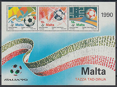XG-Z069 MALTA IND - Football, 1990 Italy '90 World Cup MNH Sheet
