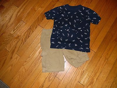 Boys Old Navy Outfit Shorts Size 6/Shirt Size Small (5/6)