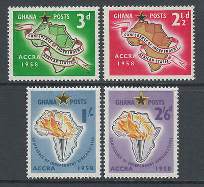 XG-Z114 GHANA - Set, 1958 Independent African Countries Conference MNH
