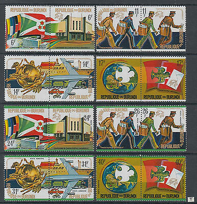 XG-Z115 BURUNDI - Upu, 1974 Centenary, 8X2 Values MNH Set