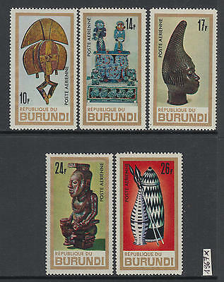 XG-Z125 BURUNDI - Handicrafts, 1967 Art, Sculptures, 5 Values MNH Set