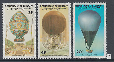 XG-Z176 DJIBOUTI - Aviation, 1983 Hot Air Balloons History MNH Set