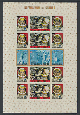 XG-Z276 GUINEA - Space, 1965 American Achievements, 15 Values Imperf. MNH Sheet
