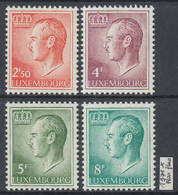 XG-Z279 LUXEMBOURG - Definitives, 1971 Not Fluo Paper, 4 Values MNH Set