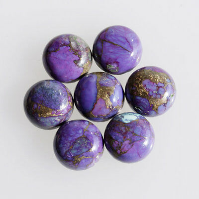 12MM Round Shape, Purple Copper Turquoise Calibrated Cabochons AG-237