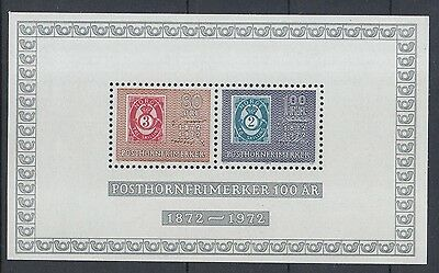 XG-O959 NORWAY - Stamp On Stamp, 1972 Centenary Of Posthorn MNH Sheet