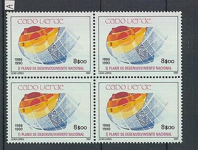 XG-Z575 CAPE VERDE IND - Set, 1987 National Plan, Block Of 4 MNH