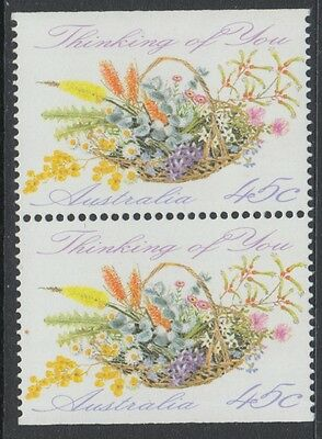 XG-P113 AUSTRALIA - Flowers, 1992 Thinking Of You, Booklet Pair MNH Set