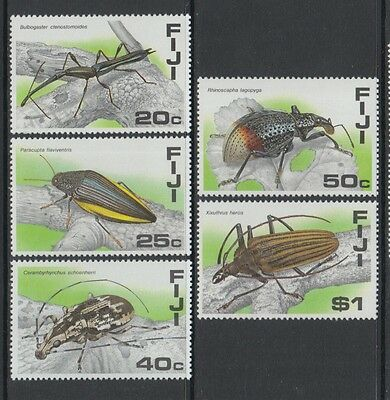XG-P115 FIJI IND - Insects, 1987 Beetles, 5 Values MNH Set