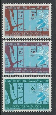 XG-P245 LIBYA - Set, 1963 Human Rights Declaration 15Th Ann. MNH