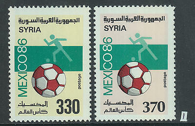 XG-Z662 SYRIA IND - Football, 1986 Mexico '86 World Cup MNH Set