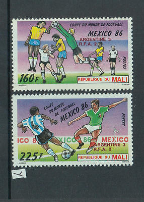 XG-Z672 MALI IND - Football, 1986 Mexico '86 World Cup, Winners Ovp. MNH Set