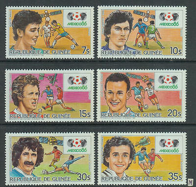 XG-Z673 GUINEA - Football, 1985 Mexico 1986 World Cup, Champions MNH Set