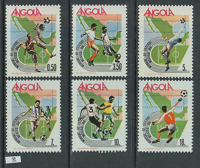XG-Z675 ANGOLA IND - Football, 1986 Mexico '86 World Cup MNH Set