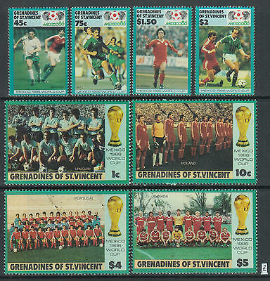 XG-Z678 ST VINCENT & GRENADINES IND - Football, 1986 Mexico 86 World Cup MNH Set