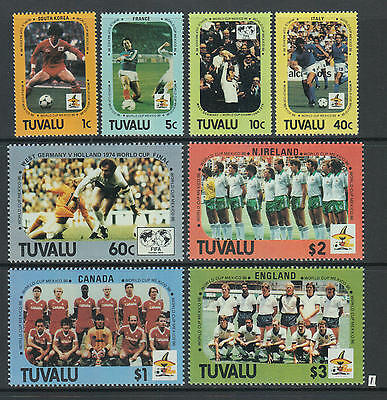 XG-Z681 TUVALU - Football, 1986 Mexico '86 World Cup, Teams, 8 Values MNH Set