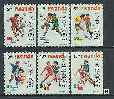 XG-Z683 RWANDA - Football, 1986 Mexico '86 World Cup, Flags MNH Set