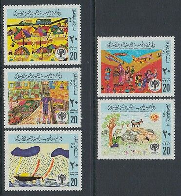 XG-P398 LIBYA - Intl. Year Of The Child, 1979 Children Paintings MNH Set