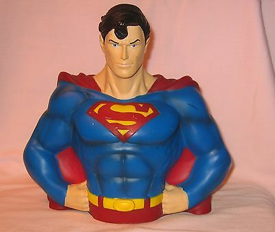 Superman Bust Coin Bank; Distributed By Monogram Masterworks