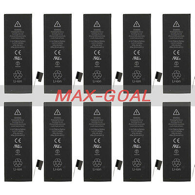 10X 1440mAh Li-ion Internal Replacement Battery with Flex Cable for iPhone 5 5G
