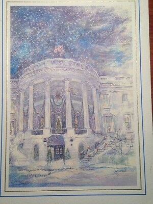 White House Christmas Card Memorabilia from 1989 and 1990