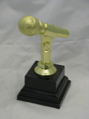 Trophy Music, Karaoke, Microphone  150mm Engraved FREE