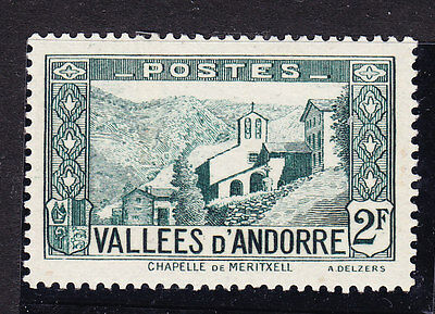 Andorra 1932 Lady´s Chapel - 2f. Green. F65 Mint Never Hinged