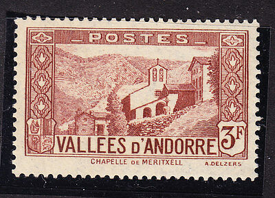 Andorra 1932 Lady´s Chapel - 3f. Brown F71 Mint Never Hinged