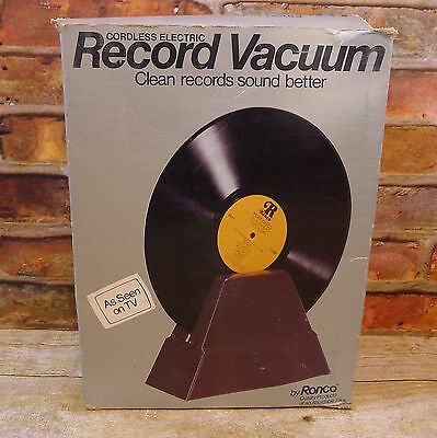 Vintage 1976 Record Vacuum By Ronco Electric Cordless Cleaning