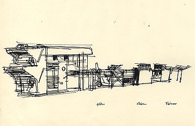 Paul Sharp - Mid 20th Century Pen and Ink Drawing, Machinery