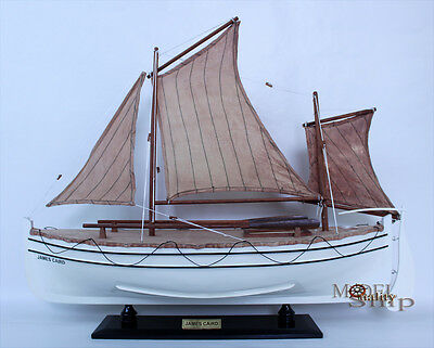 """James Caird Lifeboat Model 26"""" - Wooden Handmade Ready Display Boat Model"""