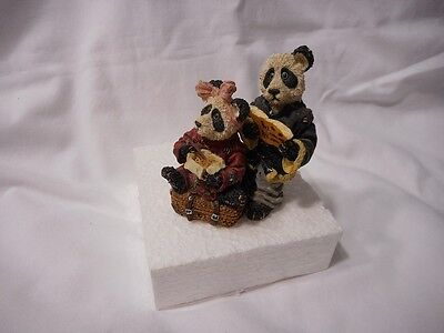 1995 Boyd  Bearstones Hsing Hsing & Ling Ling Wongbruin Carryout Figure