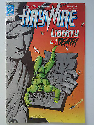 """DC Comics """" HAYWIRE """" n° 5 VO (US) Holiday 1988 new format  Liberty and Death"""