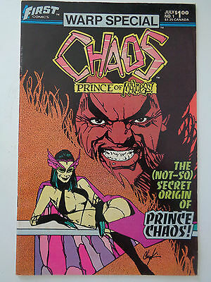 """First Comics Warp Special """" CHAOS """" n° 1 VO (US) July 1983 Prince Of Madness"""