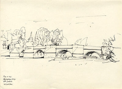 Paul Sharp - Mid 20th Century Pen and Ink Drawing, Ross on Wye