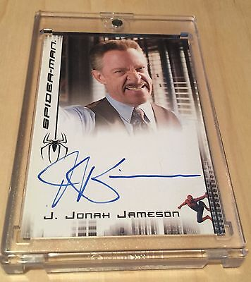 J.K. Simmons Signed Auto Autograph 2007 UD Card Spiderman Marvel Movie Whiplash
