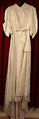 SMALL,1930's WEDDING DRESS. A KEAM CREATION. ORIGINAL VINTAGE.