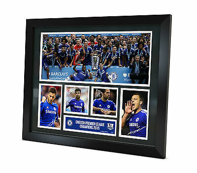 Chelsea FC Signed 2015 photo Framed Memorabilia Champions Limited Edition 250