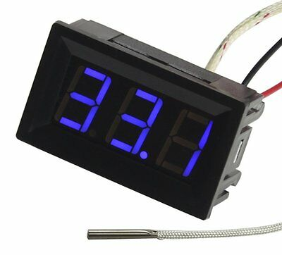 UCTRONICS -30-800 Degree Centigrade Digital Temperature Meter Blue LED Display