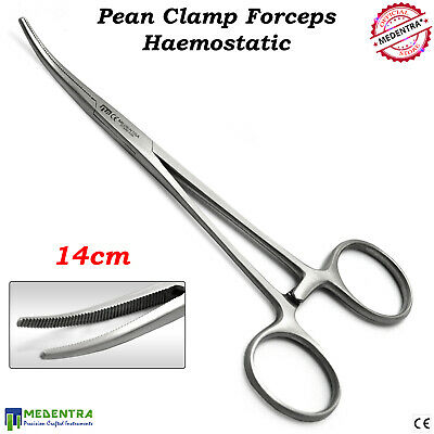 Haemostatic Surgical Pean Forceps Curved 14cm Hemostat Artery Clamp Veterinary