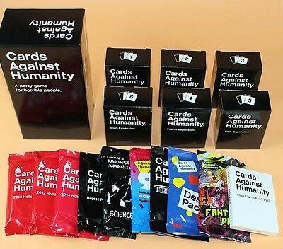 Cards Against Humanity UK + Expansion Packs - CHOOSE YOUR OWN