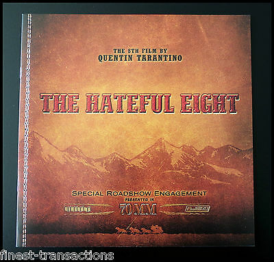 THE HATEFUL EIGHT 70mm Roadshow Movie Souvenir Program Booklet QUENTIN TARANTINO