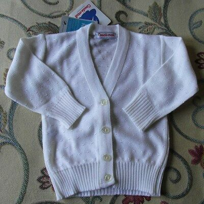 BNWT Gorgeous Conde-Mail French Vintage Baby Cream Cardigan 1970's Baby Clothes