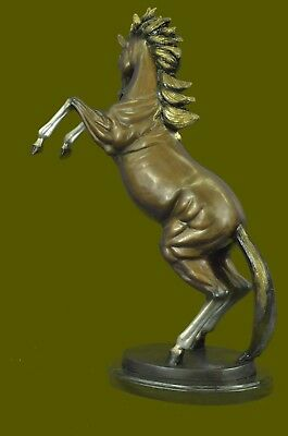 "Limited Edition Rearing Horse Collectible Collector Bronze Sculpture 25"" Tall"