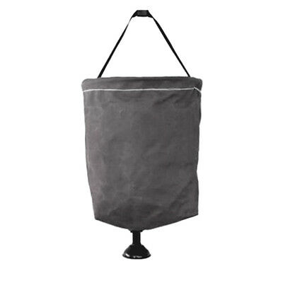 Supex 15L Canvas Bucket with Plastic Rose 41BSC - BLACK