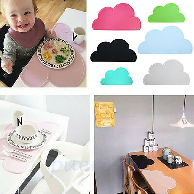Silicone Insulation Pad Cloud Shape Kitchen Placemat Kids Dining Table Place Mat