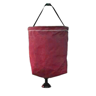 Supex 15L Canvas Bucket with Plastic Rose 41BSC - MAROON