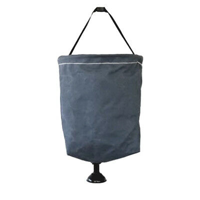 Supex 15L Canvas Bucket with Plastic Rose 41BSC - GREY