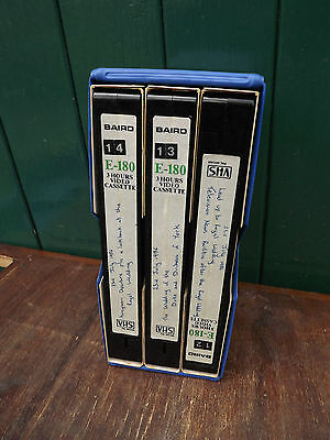 1986 Prince Andrew wedding set of 3 VHS tapes recorded from TV
