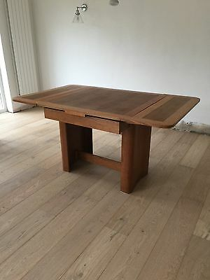 Retro Oak Extending Kitchen Dining Table Collect/Chalkwell Essex